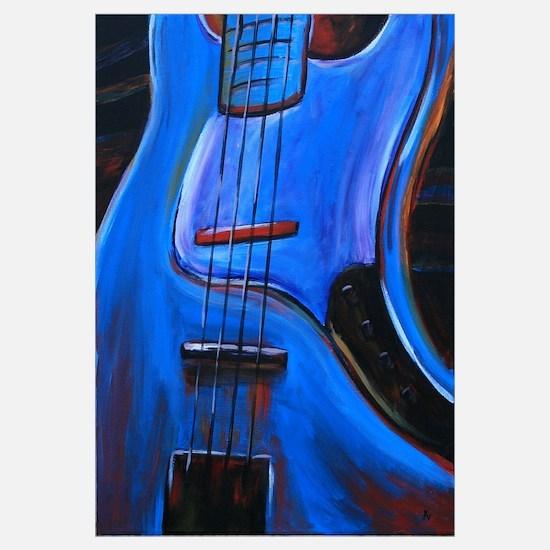 Electric Blue Bass Art