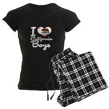 I Love California Boys Pajamas