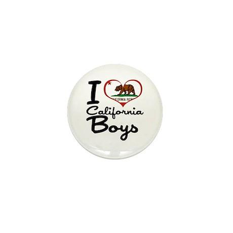 I Love California Boys Mini Button