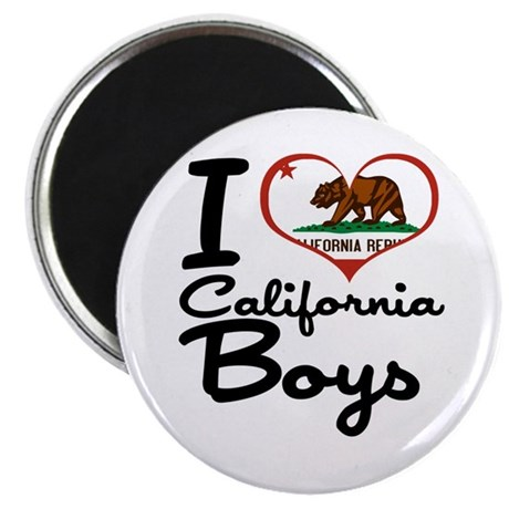 """I Love California Boys 2.25"""" Magnet (100 pack)"""