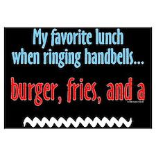 Burger Fries and a Shake Black