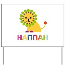 Hannah the Lion Yard Sign