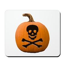 Skull & Crossbones Pumpkin Mousepad
