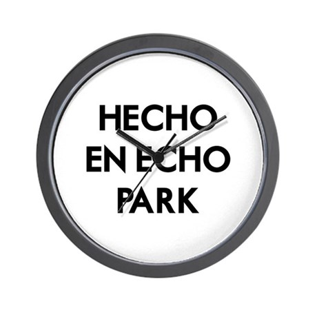 Hecho En Echo Park 2 Wall Clock