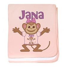 Little Monkey Jana baby blanket
