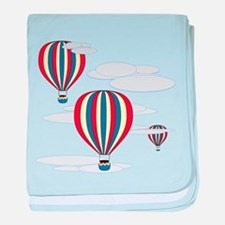 Hot Air Balloon Sky baby blanket