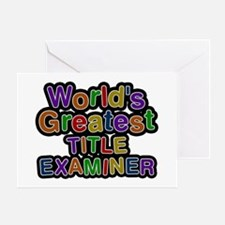 World's Greatest TITLE EXAMINER Greeting Card