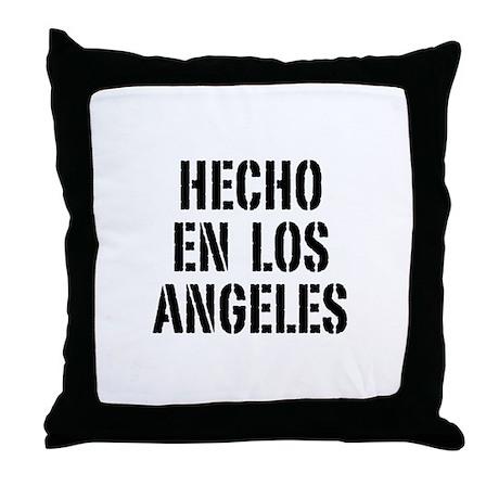 Hecho en Los Angeles (Stencil Throw Pillow