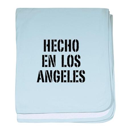 Hecho en Los Angeles (Stencil baby blanket