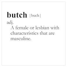BUTCH / Gay Slang Poster