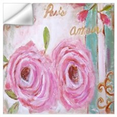 Shabby Chic Roses Wall Decal