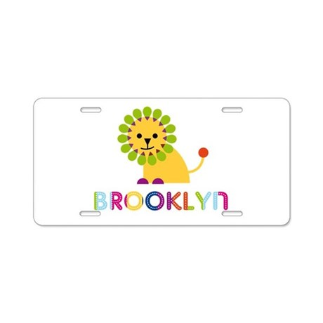 Brooklyn the Lion Aluminum License Plate