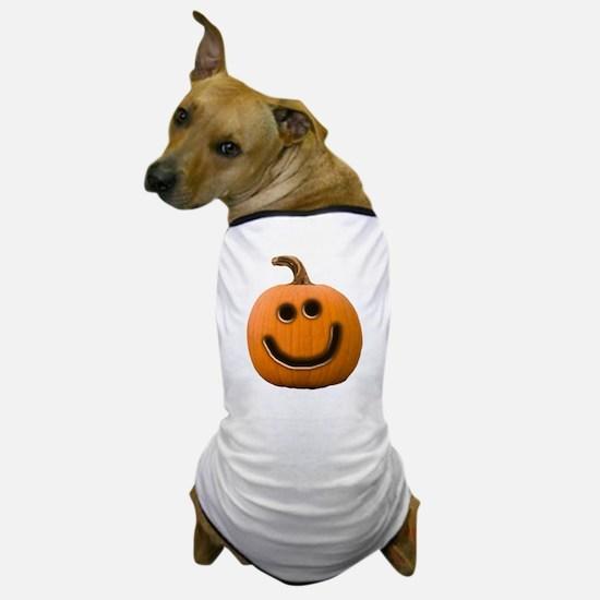 Happy Cute Jack O'Lantern Dog T-Shirt