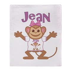 Little Monkey Jean Throw Blanket