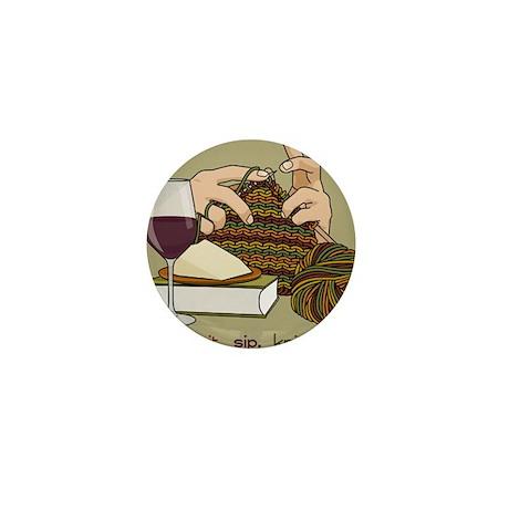 Knit Sip Knit Mini Button