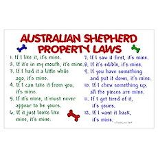 Australian Shepherd Property Laws 2 Poster