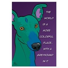 Colorful Greyhound Canvas Art