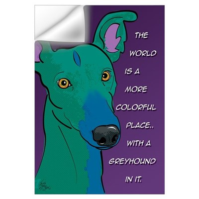 Colorful Greyhound Wall Decal