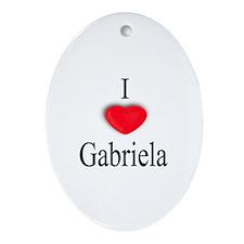 Gabriela Oval Ornament