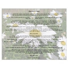 Desiderata Amongst The Daisy Poster