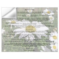 Desiderata Amongst The Daisy Wall Decal