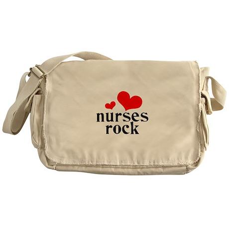 nurses rock (red/black) Messenger Bag