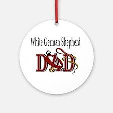 White German Shepherd Dad Ornament (Round)