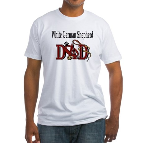 White German Shepherd Dad Fitted T-Shirt