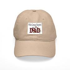 White German Shepherd Dad Baseball Cap