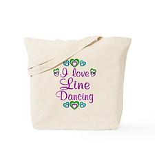 Love Line Dancing Tote Bag