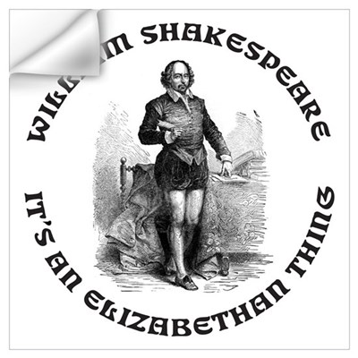 WILLIAM SHAKESPEARE T-SHIRTS Wall Decal