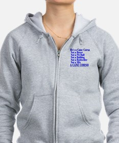 He's a Cane Corso explained Zip Hoodie