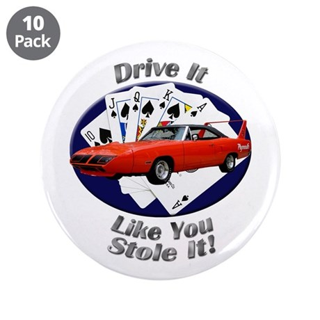 Plymouth Superbird 3.5 Inch Button (10 pack)