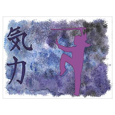 Spirit Sword Purple Poster