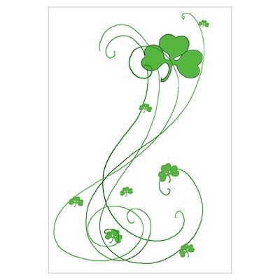 Irish Shamrock Art Poster