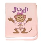 Little Monkey Jodi baby blanket