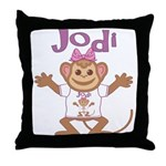 Little Monkey Jodi Throw Pillow