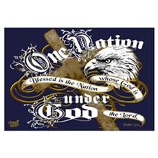 One Nation - Blessed Framed Print