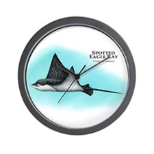 Spotted Eagle Ray Wall Clock