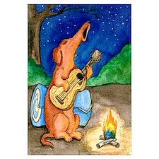 Campfire Howling Dachshund