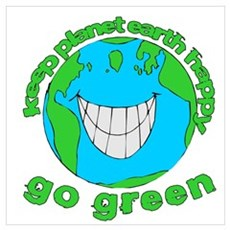 Happy Green Earth Poster