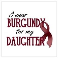 Wear Burgundy - Daughter Framed Print