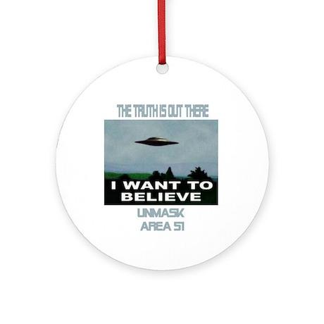 """""""UFO"""" Ornament (Round)"""