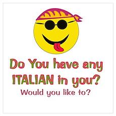 ITALIAN PICK UP LINE Poster
