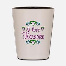 I Love Karaoke Shot Glass