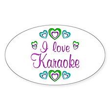 I Love Karaoke Decal
