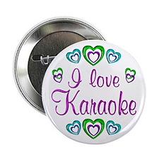 "I Love Karaoke 2.25"" Button (10 pack)"