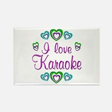 I Love Karaoke Rectangle Magnet