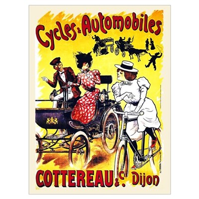 Cycles Automobiles Cottereau French 9x12 print Framed Print
