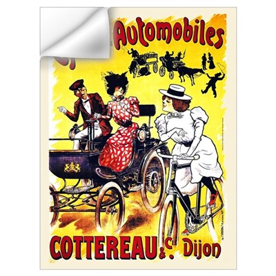 Cycles Automobiles Cottereau French 9x12 print Wall Decal